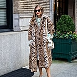 Style Your Leopard-Print Coat With: A Printed Dress and Heels