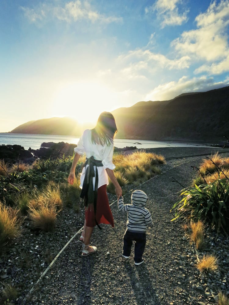 Orlando Bloom snapped this photo of his former wife and son in New Zealand in August in 2012.