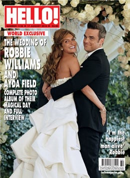 Official Pictures of Robbie Williams' Wedding With Ayda Field Plus Quotes From Hello