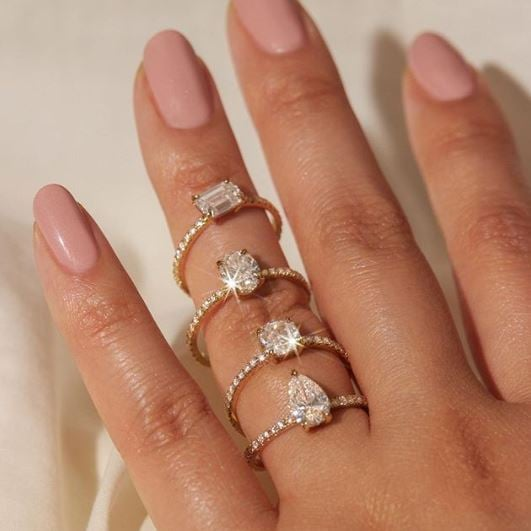 The Best Lab Grown Diamond Engagement Rings Popsugar Fashion Australia