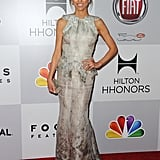 Giuliana Rancic donned a silver gown.