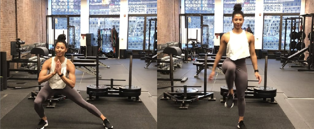 How to Do a Lateral Lunge With a Knee Drive