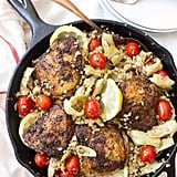 One-Pan Greek Lemon Chicken With Cauliflower Rice