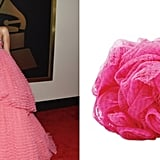 Rihanna was also compared to a shower loofah.