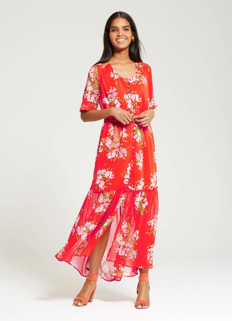 Who What Wear Tiered Maxi Print
