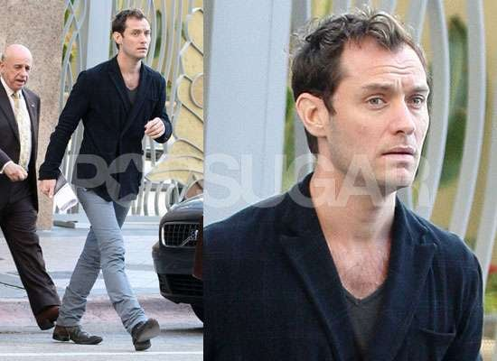 Photos of Jude Law Meeting Baby Sophia