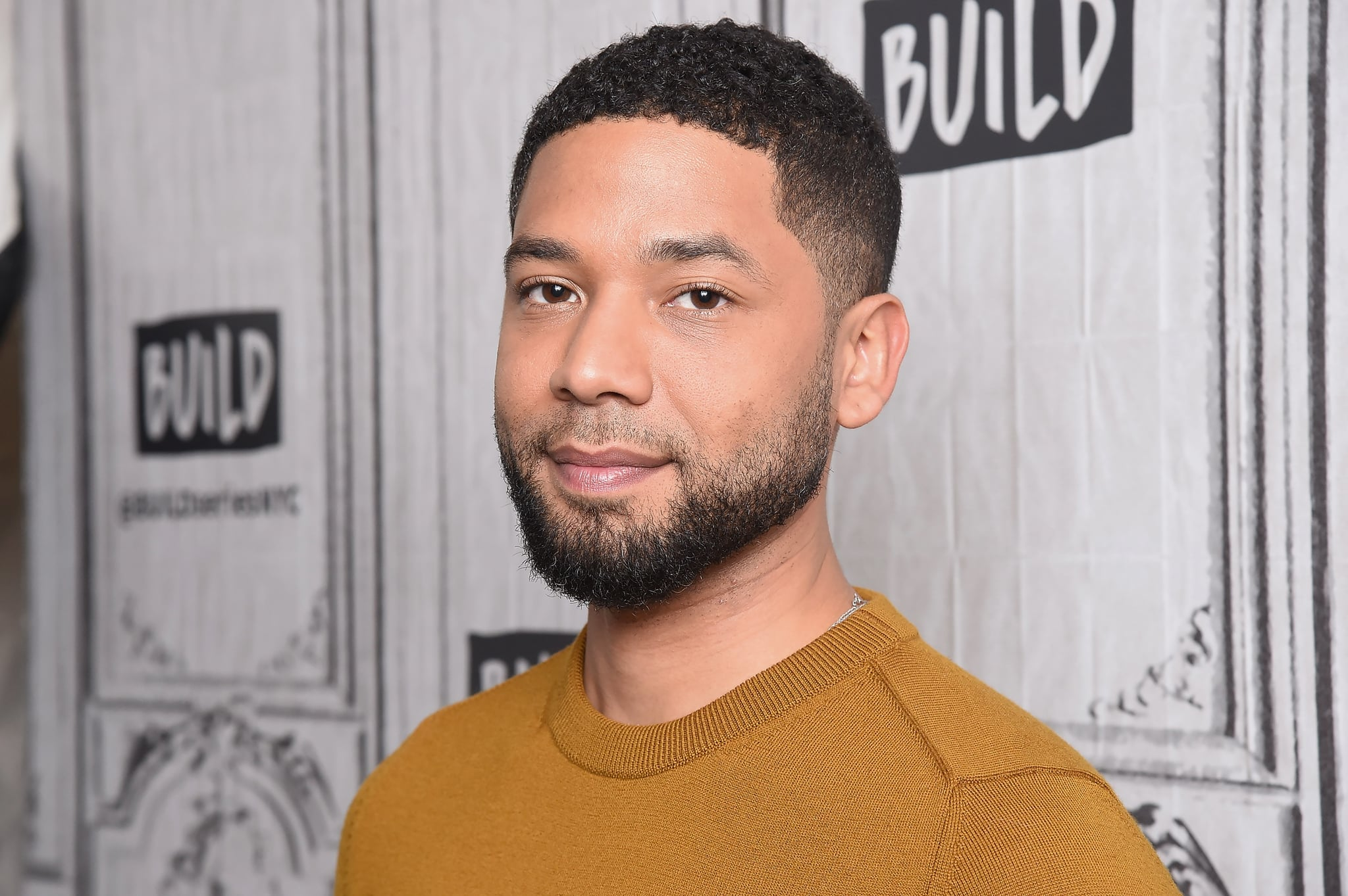NEW YORK, NY - NOVEMBER 14:  Actor and activist Jussie Smollett visits Build Series to discuss the TV show 'Empire' and his work for charitable causes at Build Studio on November 14, 2018 in New York City.  (Photo by Gary Gershoff/WireImage)