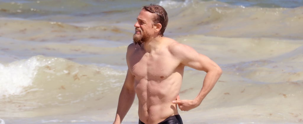 Charlie Hunnam Shirtless in Mexico With Morgana McNelis 2018