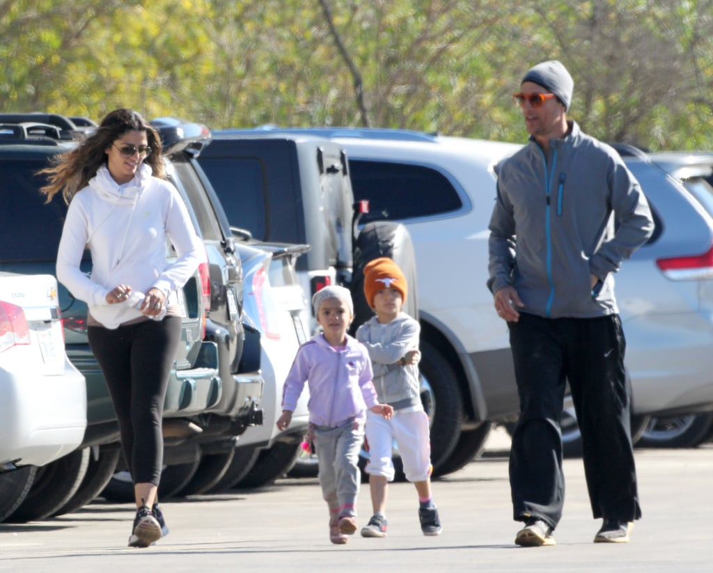 Matthew McConaughey and Camila Alves on a Family Jog