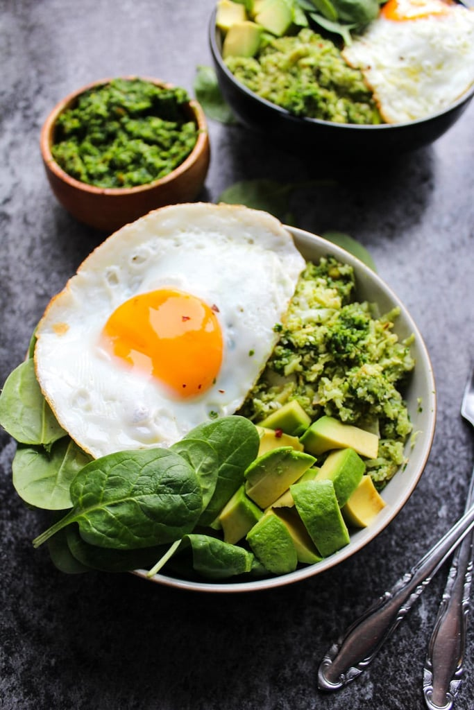 Pesto Cauliflower Rice Bowls