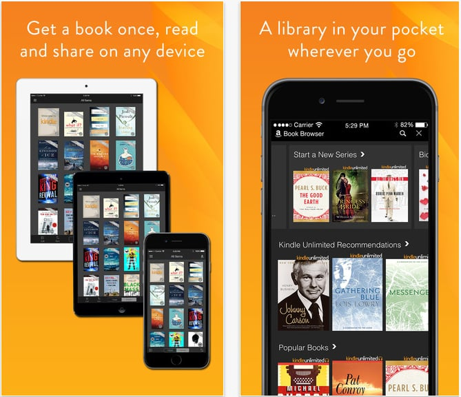 Best Book Making Apps : Amazon kindle best reading apps popsugar tech photo