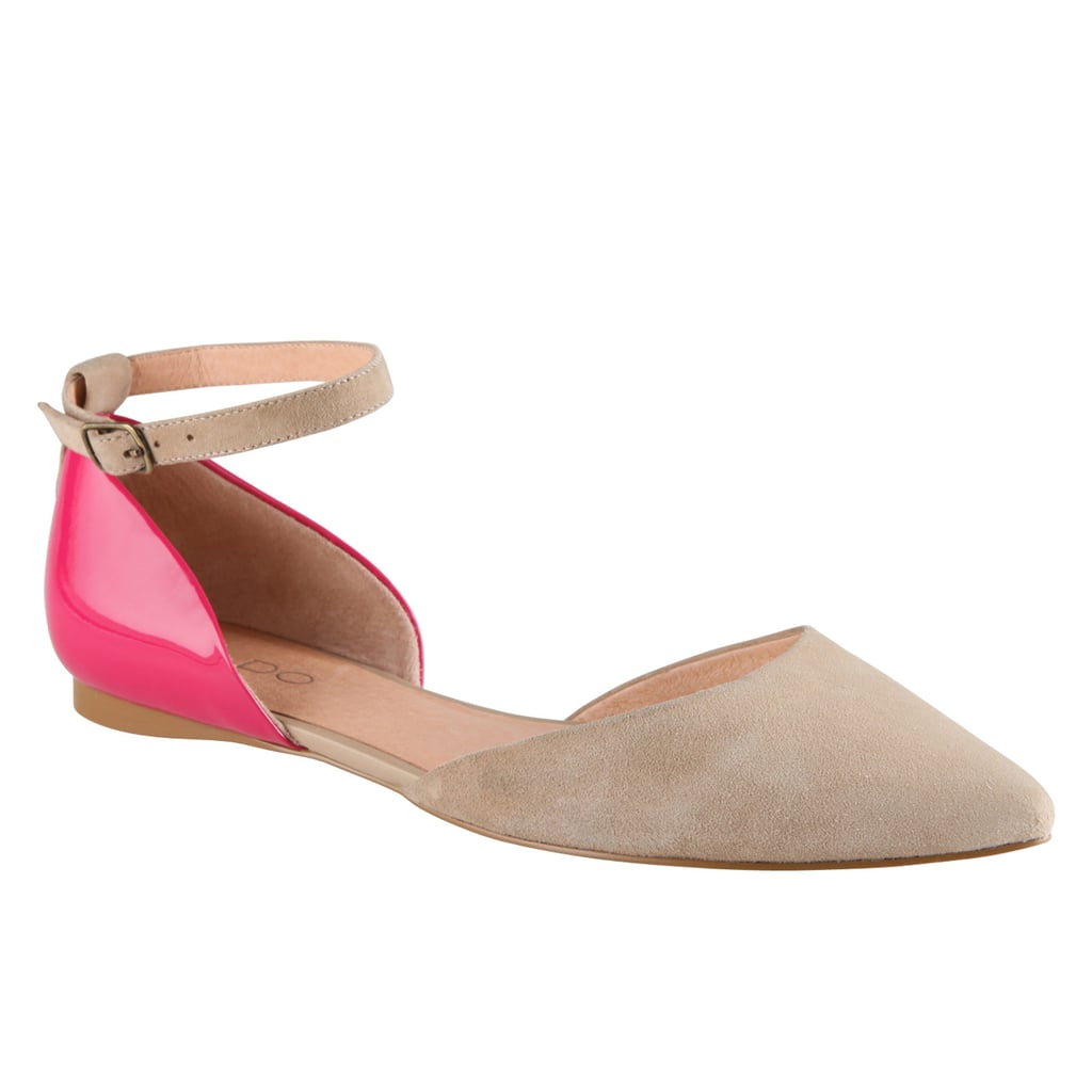 We love the dash of pink on the heels of these shoes. Aldo Leggat Flats ($35, originally $70)