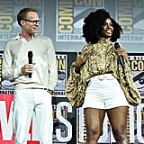 Pictured: Paul Bettany and Teyonah Parris at San Diego Comic-Con.