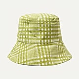 Faithfull the Brand Checked Cotton-Canvas Bucket Hat