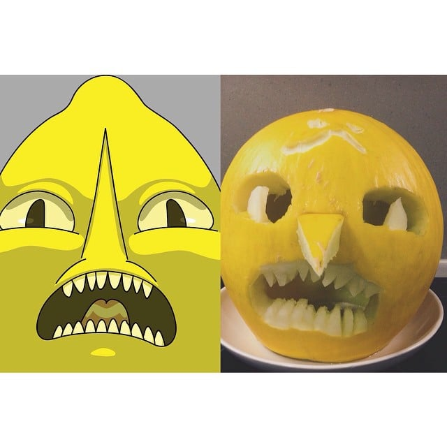 Earl Of Lemongrab 25 Incredibly Creative Pumpkin Ideas Popsugar