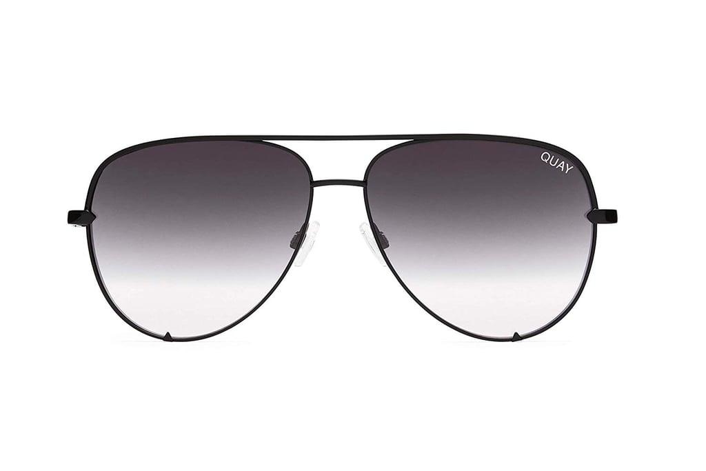 Quay Australia HIGH KEY Classic Oversized Aviator Sunglasses