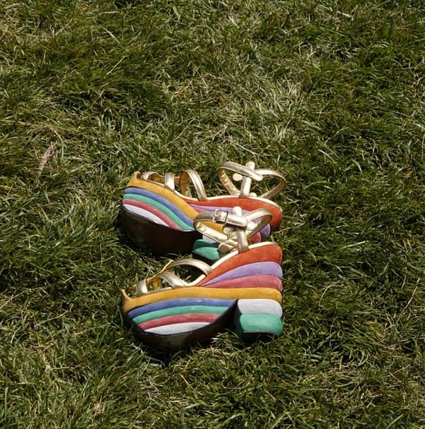 Salvatore Ferragamo admired these fabulous rainbow shoes — first created for Judy Garland! Source: Instagram user ferragamo