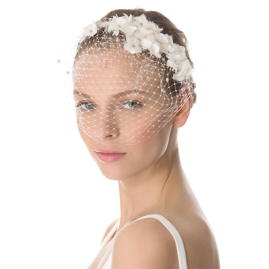 POPSUGAR Fashion editors picked out 14 of the prettiest wedding veils and headpieces to finish off your bridal look. From Jenny Packham's barely there mesh confection to a handmade floral headband, see and shop all the beautiful picks now.