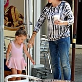 Jennifer Garner brought little ballerina Seraphina Affleck to Baskin-Robbins.