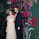 Olivia Palermo and Johannes Huebl at The Green Carpet Fashion Awards 2019