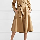 Calvin Klein Convertible Double-Breasted Cotton-Twill Trench Coat