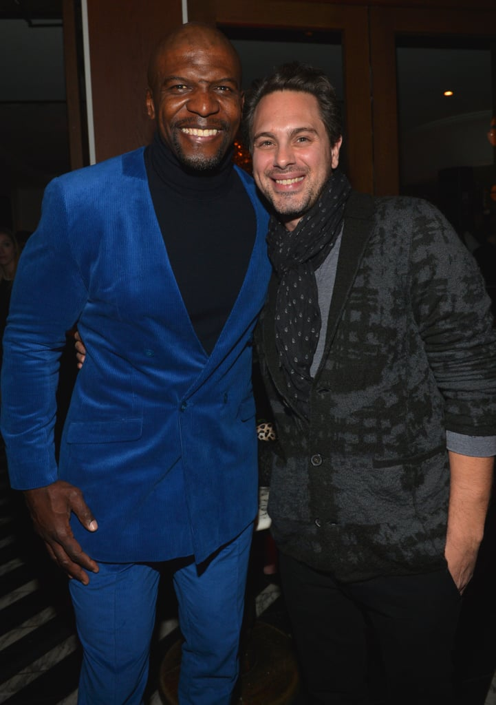 Terry Crews and The Newsroom's Thomas Sadoski smiled.