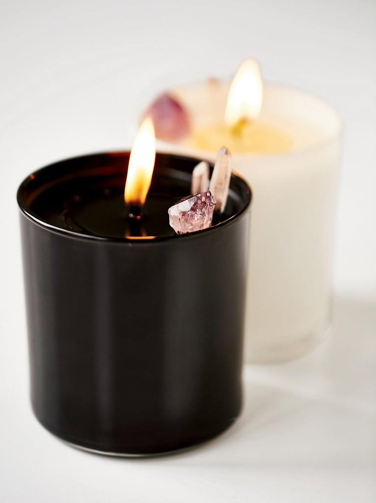 Smoke & Lavender Soy Quartz Crystal Candle ($52)