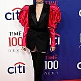 Camila Cabello's Romantic Rose Sleeve Suit Dress Photos