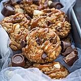 Rolo-Stuffed Caramel Oatmeal Cookies