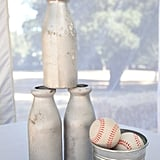 Milk Bottles and Baseballs