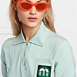 Le Specs x Adam Selman The Last Lolita Cat-Eye Neon Acetate Mirrored Sunglasses