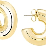 JANIS BY JANIS SAVITT High Polished 18K Yellow Gold Plated Small Hoop Earrings