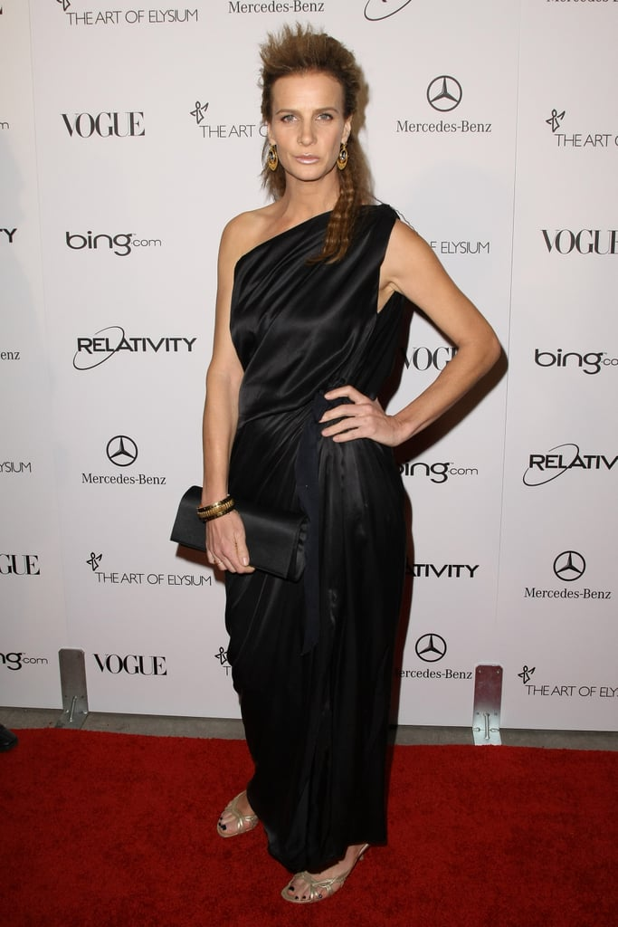Rachel Griffiths opted for a Grecian-inspired gown.