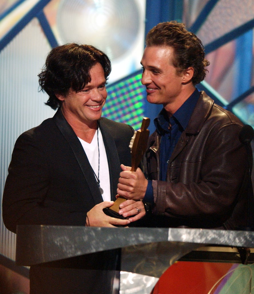 Matthew McConaughey presented John Mellencamp with the 2001 Century Award.