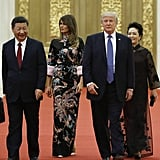 Melania Trump Wore a Chinese-Inspired Dress From Gucci
