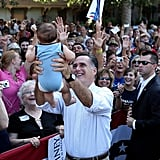 A lil supporter drew smiles from the crowd when presumptive Republican nominee Mitt Romney visited St. Augustine, FL, earlier this month.