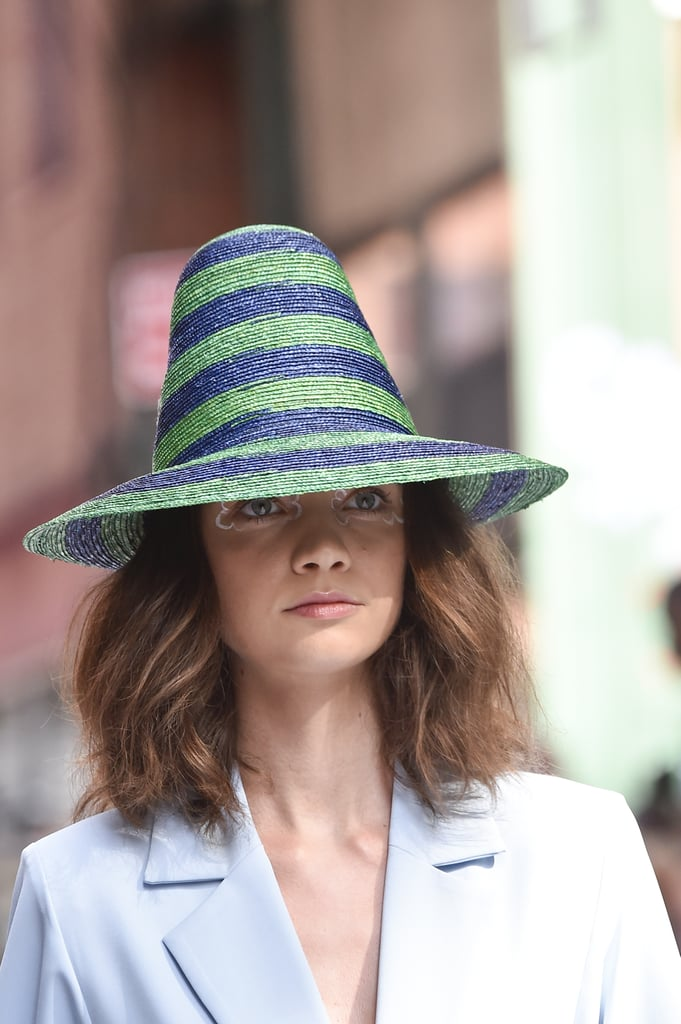 A Hat on the Cynthia Rowley Runway at New York Fashion Week