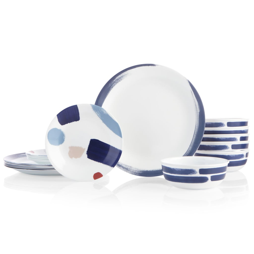 Corelle Vivid Splash 18-Piece Dinnerware Set