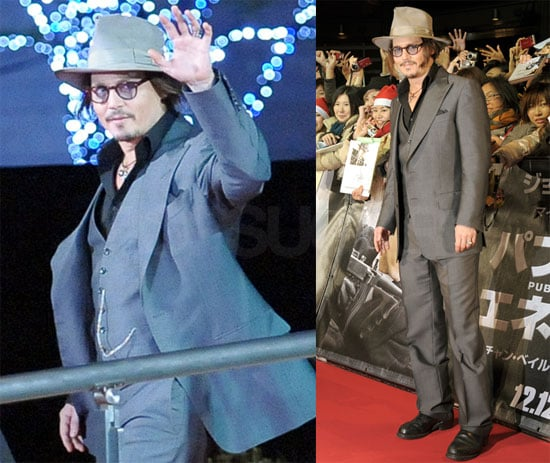Photos of Johnny Depp at the Tokyo Public Enemies Premiere