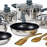 Basic Essentials 14-pc Stainless Steel Cookware Set