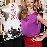 Miranda Kerr sported light locks and a colorblock outfit for a Victoria's Secret event during FNO in 2009.