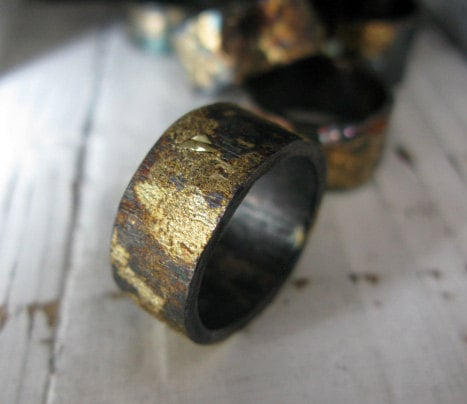 Scorched Earth Men's Wedding Band ($375)
