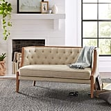 Stone & Beam Laurel Rounded Loveseat Sofa Settee Couch