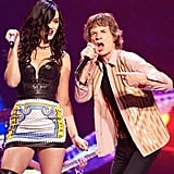 Katy Perry had an unforgettable moment on stage with Mick Jagger. Source: Twitter user katyperry