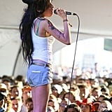 Amy Winehouse sang to a packed audience in 2007.