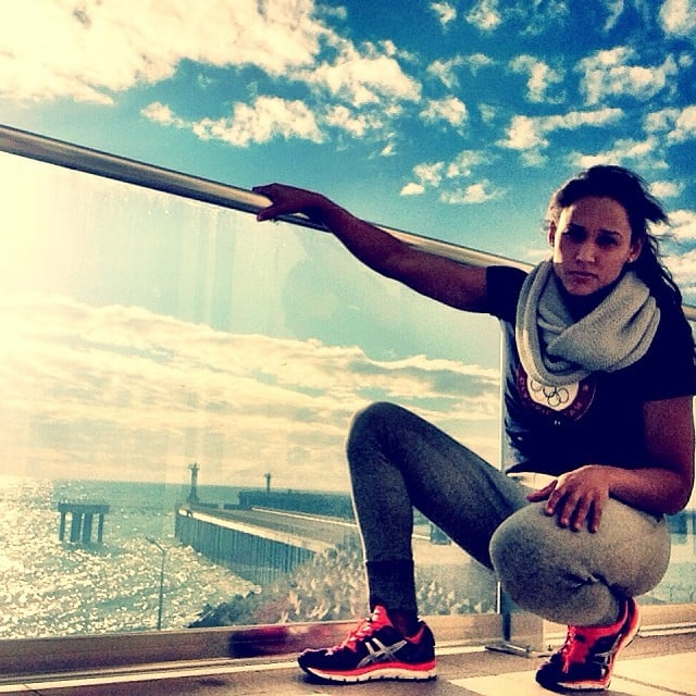Summer and Winter Olympian Lolo Jones showed off the view from her room.   Source: Instagram user lolojones
