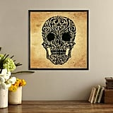 Skull Art Canvas Framed Print