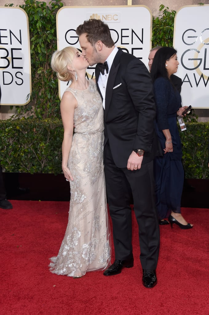 The cute couple shared a kiss at the 2015 Golden Globe Awards in LA.