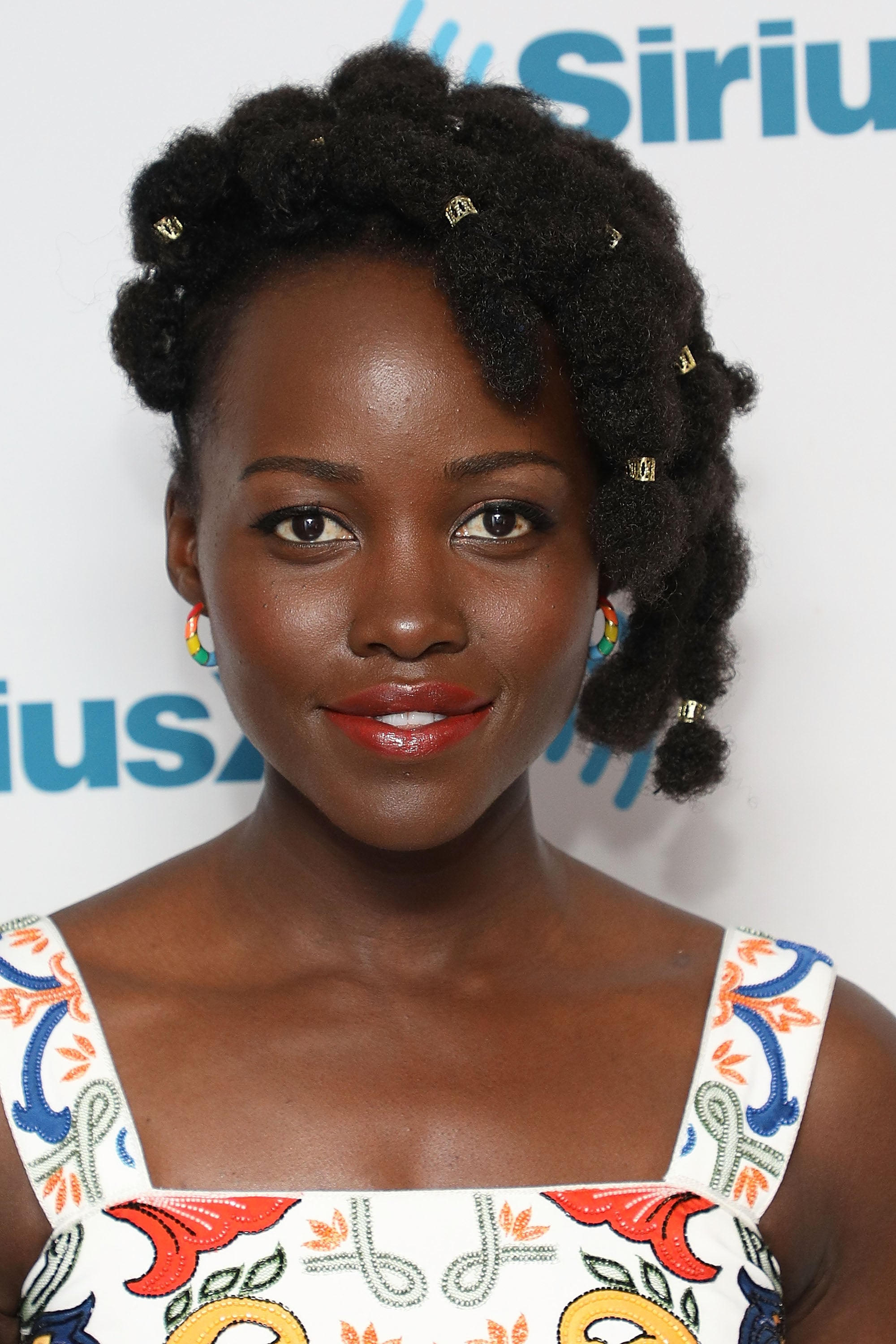 NEW YORK, NY - MAY 15:  Actress Lupita Nyong'o visits the SiriusXM Studios on May 15, 2018 in New York City.  (Photo by Taylor Hill/Getty Images)