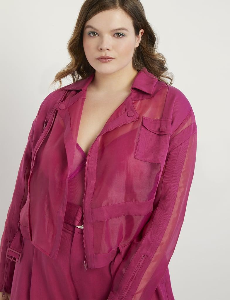 Priscilla Ono x ELOQUII Sheer Moto Jacket
